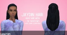 The Sims 4   Jaydin Hairstyle by GarnetSims   natural hairs for female adult