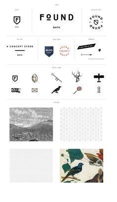 Great branding board by Stitch Design.