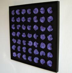 Exclusieve wanddecoratie - 01. Black Series | Black & Purple Flowers - O.24…