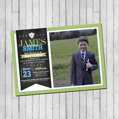 CTR Boy Baptism Invitation  LDS Baptism by LaLoopsieInvites
