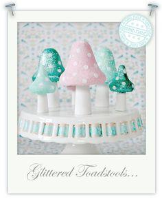 Glittered Toadstools