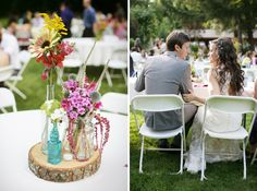 I'm pinning this for that glorious hair. But I like the centerpieces too.