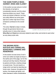 Colour Board Dark Red Vocabulary Http Greensleeves Hubs Hubpages