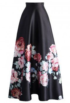 Endless Blooming Rose Maxi Skirt - CHICWISH SKIRT COLLECTION - Skirt - Bottoms - Retro, Indie and Unique Fashion