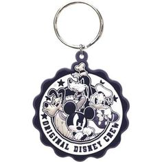 Original Disney Crew Mickey Goofy Donald Pluto Keychain