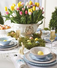 Easter tablescape Frontgate