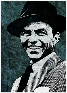 Frank Sinatra Singing and Music Legend Pop Art by cutitoutart