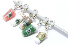 Cute! Mini star bucks drinks key chains!