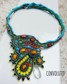 Soutache jewelry : Convoluted by Geanina Grigore