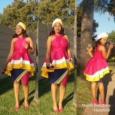 Venda Traditional Attire, Setswana Traditional Dresses, South African Traditional Dresses, Traditional Fashion, Short African Dresses, Latest African Fashion Dresses, African Attire, African Outfits, Skirts For Kids
