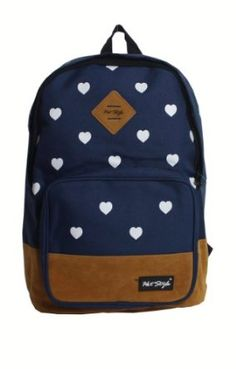 Amazon.com: Wingler Fashion Colorful Cartoon Heart Unisex Canvas Shoulder Bag Handbag School Bag Backpack - A5 (blue): Clothing