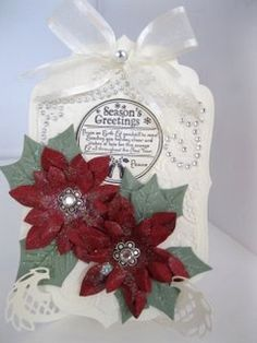 Spellbinders Poinsettia Flower Card with this beautiful set.