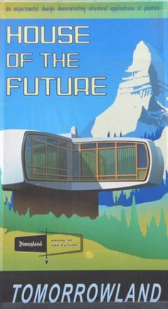 House of the Future Disneyland poster