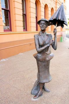 Statue of Mary Poppins in Maryborough, Queensland, Australia, the birthplace of…