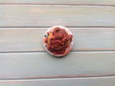 Miniature 1:12 Scale Food - Baked potato filled with chilli con carne by DinkyDinerMinis