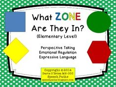 What Zone Are They In? Interactive Activity (Elementary Level)