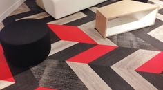 """@Patcraft caught the crowds' attention with their new Mixed Materials collection--and stretched the boundaries of the """"modular carpet"""" category. NeoCon 2014"""