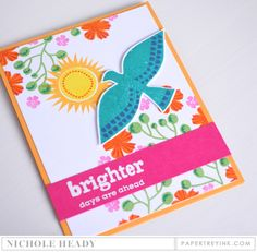 Brighter Days Card by Nichole Heady for Papertrey Ink (January 2017)