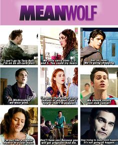 Mean Wolf... (Mean Girls meets Teen Wolf) haha
