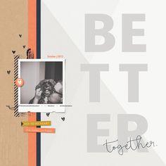 Page & Photo: Jenifer Juris Tutorial: Graphic Title Design by Jenifer Juris Kit: Love List by One Little Bird Fonts: Avenir Next, Bellwethers