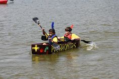 Paddlin' For Paws Cardboard Boat Race on Lake Wedowee Cardboard Boat Race, Nature Crafts, Fun Stuff, Pine, Hobbies, Racing, Photo And Video, Summer, Cards