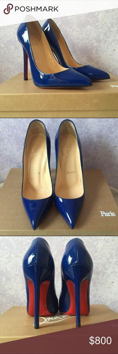 Christian Louboutin Pigalle 120 Size 36 in Neptune No trades. Offers accepted. Christian Louboutin Pigalle 120 Size 36 in Neptune. New soles. Only tried on carpet. Dust bag included. Color is discontinued. Christian Louboutin Shoes Heels