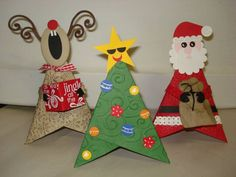 Added a Christmas tree to theTrio of Characters by LLINNYC3 - Cards and Paper Crafts at Splitcoaststampers