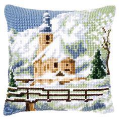 Church in Snow - Kruissteekkussen - Vervaco