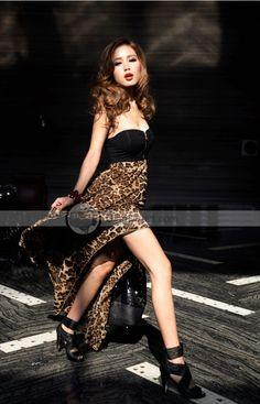 858d6bdd77 Doclin Slim Leopard Chiffon Jointing Qmilch Layered Strapless Women Dress -  DinoDirect.com. Trendy DressesNice DressesSexy ...