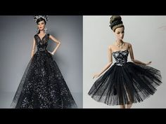 Super Barbie Skirt Tutorial & Pom Pom Doll Dresses & part 3 Barbie Et Ken, Barbie Mode, Barbie Dolls Diy, Barbie Dress, Doll Dresses, Sewing Barbie Clothes, Barbie Clothes Patterns, Doll Dress Patterns, Shirt Patterns