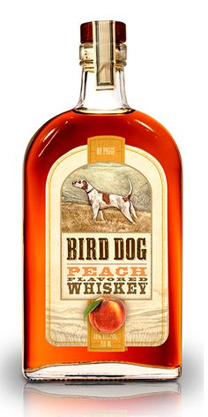 "Bird Dog Peach Whiskey: ""Bird Dog Peach immerses juicy, savory, fragrant peaches to create a smooth, easy-to-drink whiskey."" – Distiller's notes"