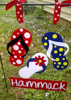 Personalized Clear Flip Flop Garden Flag by ClippieKins on Etsy, $15.00