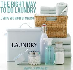 Do laundry efficiently and correctly! The Right Way To Do Laundry - 5 Steps You Might Be Missing from Clean Mama