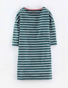 Relaxed Breton Tunic WL964 3/4 Sleeved Tops at Boden