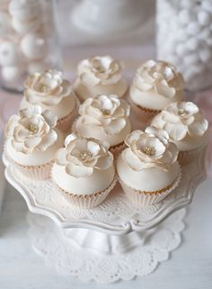 Ivory and soft pink dessert table