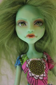 OOAK Custom Create-A-Monster Witch Monster High Repaint. $85.00, via Etsy.