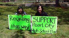 The Pearl City High School Band held a recycling fundraiser on Sunday to help raise money for bus fare. The public was invited to drop off their plastic/glass bottles and cans at the PCHS Administration parking lot. PCHS Band members and volunteers manned the drop off station