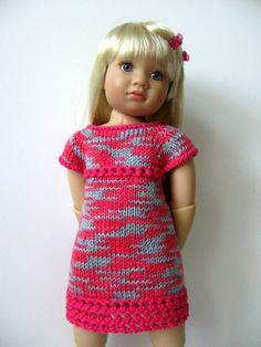 Sommer TWIGGY Kleid schlank 18-Zoll-Puppe Kidz n von KNITnPLAY