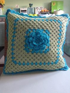 Granny Square cushion for my sister