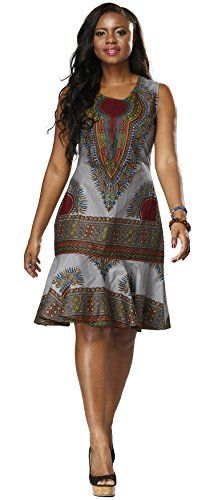 Shenbolen Woman African Print Dress Dashiki Traditional Dress Party Dresses (XX-Large, A) African Dresses For Women, African Print Dresses, African Attire, African Fashion Dresses, African Wear, African Style, African Dress Patterns, African Fashion Designers, African Print Fashion