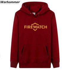 2017 Spring & Fall warm cozy hoodie & sweatshirt DIY Printed FIREWATCH game team hoodie sweatshirt thick fleece cotton pullover #Affiliate