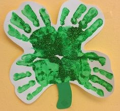 Preschool Ideas For 2 Year Olds St Patricks Day Handprint Rainbow