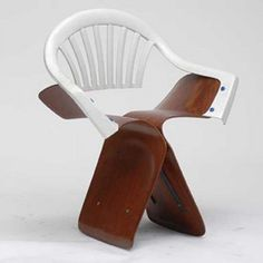 """Sonet Butterfly (16 august 2006) from the series """"100 chairs in 100 days and its 100 ways"""" by Martino Gamper"""