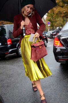 Jewel toned Gucci look. Paris
