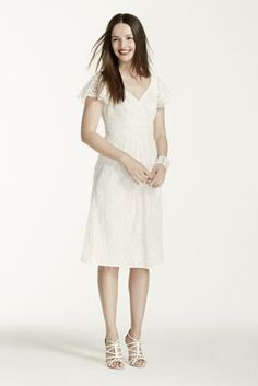 A sweet, lace frock is the perfect outfit for your bridal shower!