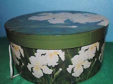 Vintage floral round hat storage box LOOK! Vintage Hat Boxes, Hat Storage, Round Hat, Decorative Boxes, Antiques, Hats, Floral, Ebay, Beautiful