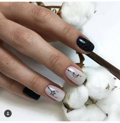 Shop for the latest merch, shop girls Cute Acrylic Nails, Cute Nails, Pretty Nails, Minimalist Nails, Moon Nails, Manicure E Pedicure, Dream Nails, Square Nails, Stylish Nails
