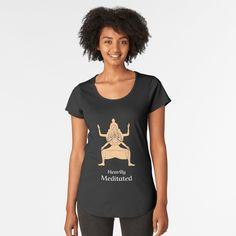 'Autumn Leaves' Premium Scoop T-Shirt by bubbliciousart Tech T Shirts, Yoga Mom, My T Shirt, Tshirt Colors, Chiffon Tops, Cap Sleeves, Looks Great, Fitness Models, Shirt Designs