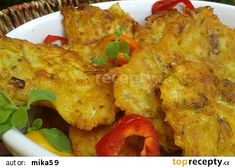 Kuřecí bramboráčky recept - TopRecepty.cz Cauliflower, Recipies, Food And Drink, Meat, Chicken, Vegetables, Ds, Recipes, Cauliflowers