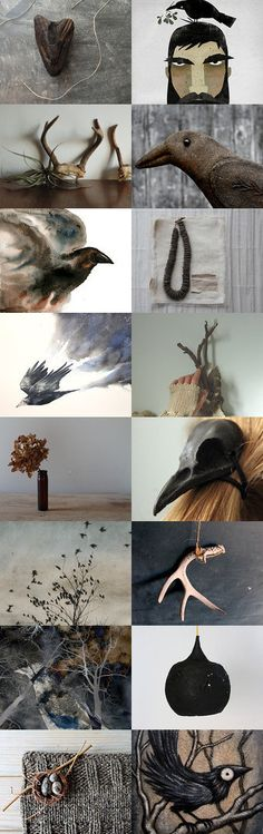 Crow by Natalia Mylona on Etsy--Pinned with TreasuryPin.com
